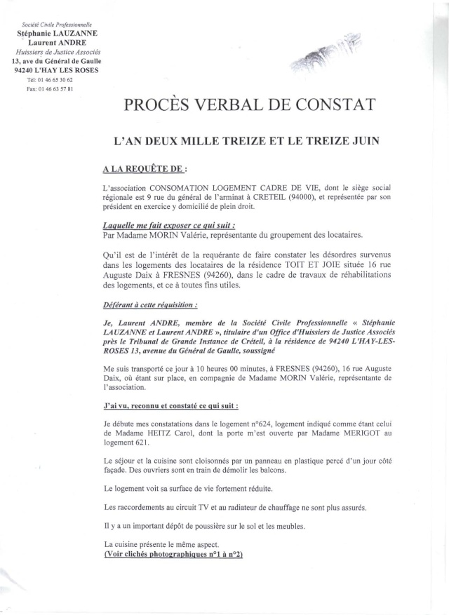 VOICI LE RAPPORT D'HUISSIER Rappor10