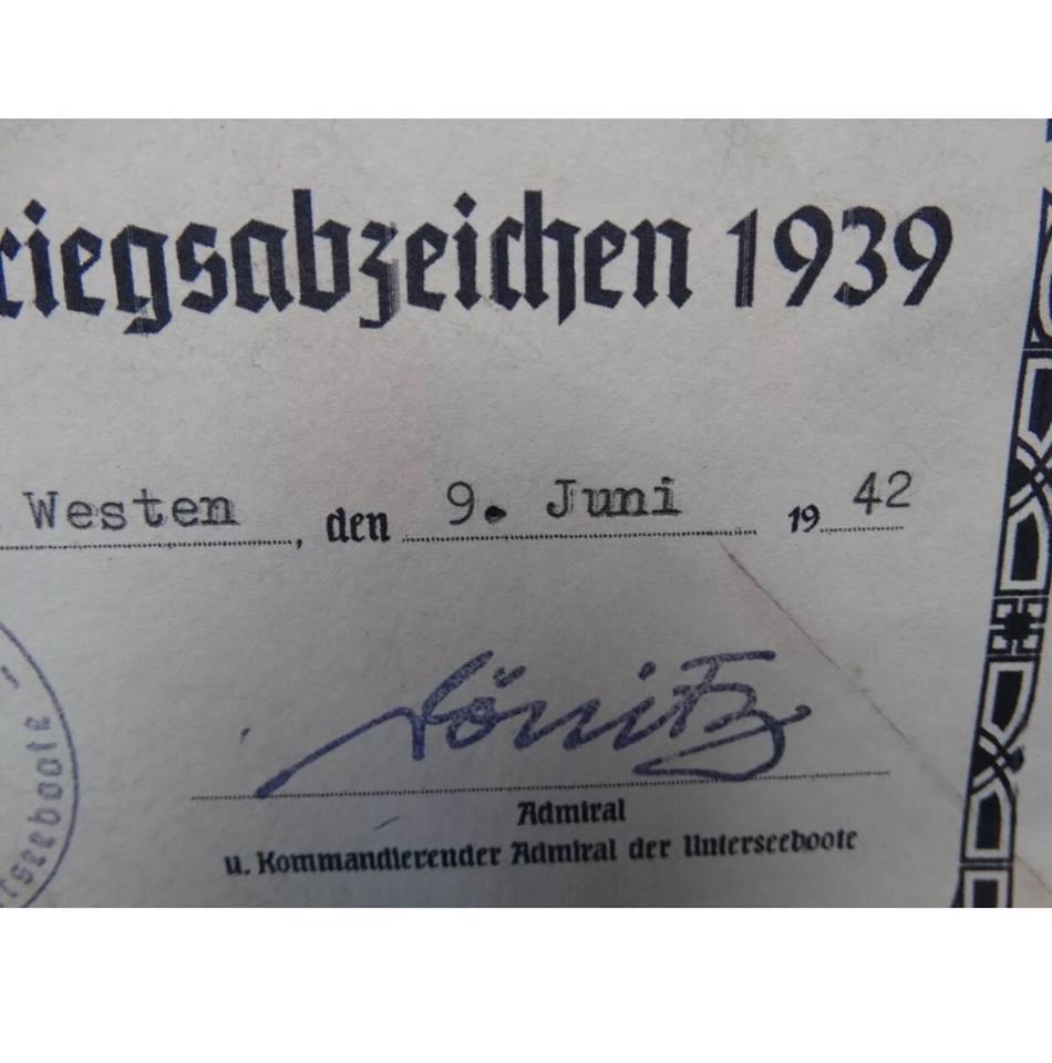 diplôme Kriegsmarine 39141010