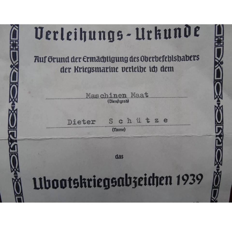 diplôme Kriegsmarine 39257710