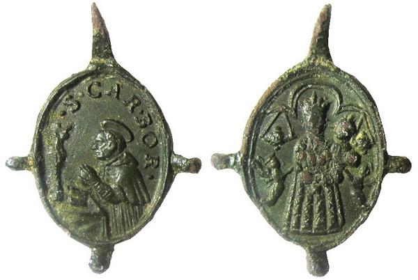 Las  MEDALLAS de San CARLOS BORROMEO. SIGLOS XVI- XVII- XVIII. Apuntes iconográficos. 05_lor10
