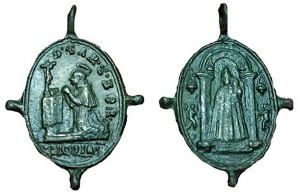 Las  MEDALLAS de San CARLOS BORROMEO. SIGLOS XVI- XVII- XVIII. Apuntes iconográficos. 05_lor11