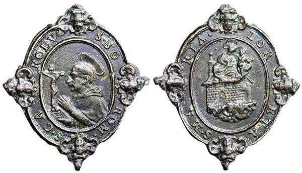 Las  MEDALLAS de San CARLOS BORROMEO. SIGLOS XVI- XVII- XVIII. Apuntes iconográficos. 09_lor11