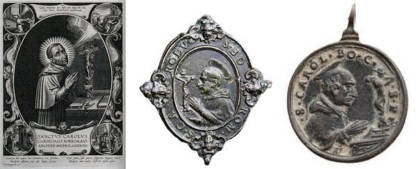 Las  MEDALLAS de San CARLOS BORROMEO. SIGLOS XVI- XVII- XVIII. Apuntes iconográficos. 1_mano10