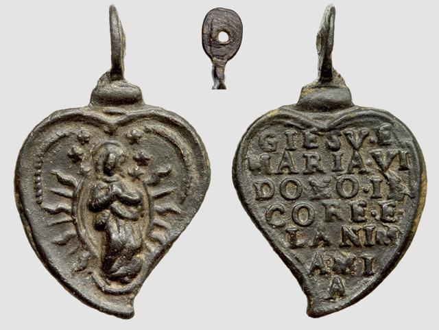 Medalla Inmaculada Concepción / Jaculatoria (R.M. SXVII-Ot51) A029_d10