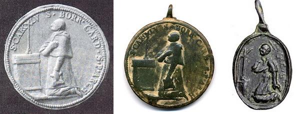 Las  MEDALLAS de San CARLOS BORROMEO. SIGLOS XVI- XVII- XVIII. Apuntes iconográficos. Arrodi11