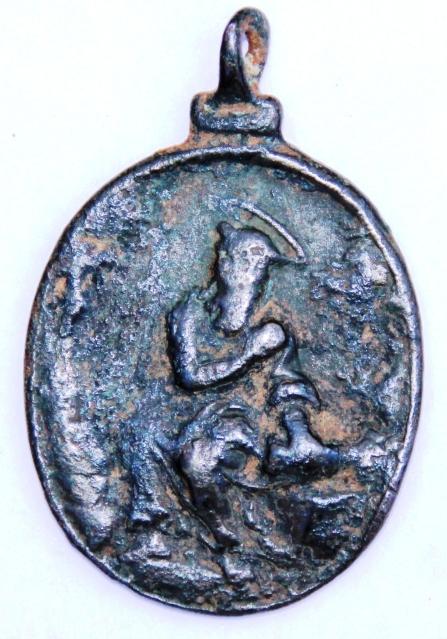 Medalla Virgen de Guadalupe / San Jerónimo de Estridon S-XVII Bi5ab710