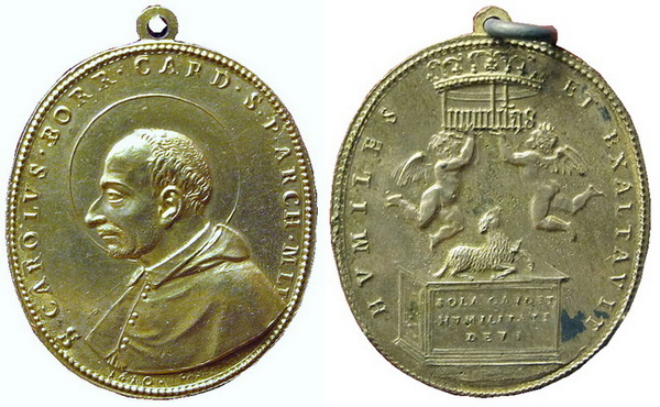 borromeo - Las  MEDALLAS de San CARLOS BORROMEO. SIGLOS XVI- XVII- XVIII. Apuntes iconográficos. Carlos10