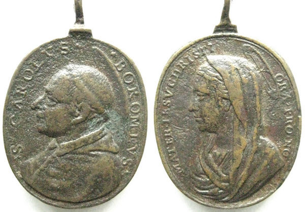 Las  MEDALLAS de San CARLOS BORROMEO. SIGLOS XVI- XVII- XVIII. Apuntes iconográficos. Carlos12