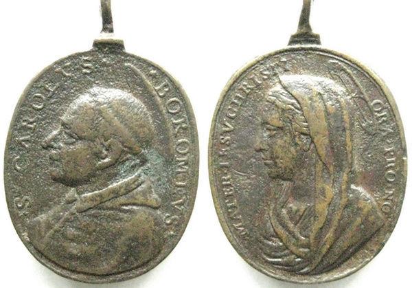 borromeo - Las  MEDALLAS de San CARLOS BORROMEO. SIGLOS XVI- XVII- XVIII. Apuntes iconográficos. Carlos12