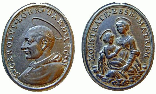 Las  MEDALLAS de San CARLOS BORROMEO. SIGLOS XVI- XVII- XVIII. Apuntes iconográficos. Carlos13