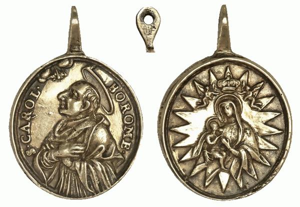 Las  MEDALLAS de San CARLOS BORROMEO. SIGLOS XVI- XVII- XVIII. Apuntes iconográficos. Carlos14