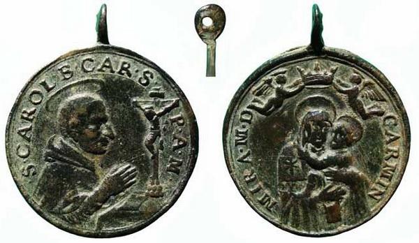 borromeo - Las  MEDALLAS de San CARLOS BORROMEO. SIGLOS XVI- XVII- XVIII. Apuntes iconográficos. Carmen15
