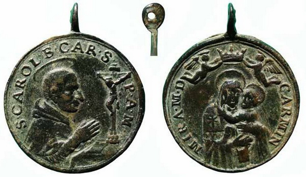 Las  MEDALLAS de San CARLOS BORROMEO. SIGLOS XVI- XVII- XVIII. Apuntes iconográficos. Carmen15