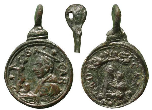 Las  MEDALLAS de San CARLOS BORROMEO. SIGLOS XVI- XVII- XVIII. Apuntes iconográficos. Carmen16