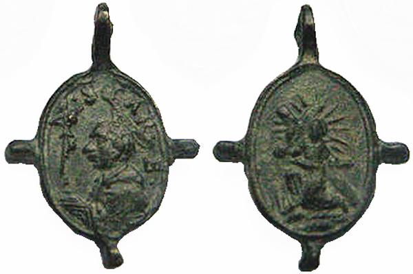 Las  MEDALLAS de San CARLOS BORROMEO. SIGLOS XVI- XVII- XVIII. Apuntes iconográficos. Col_pa15
