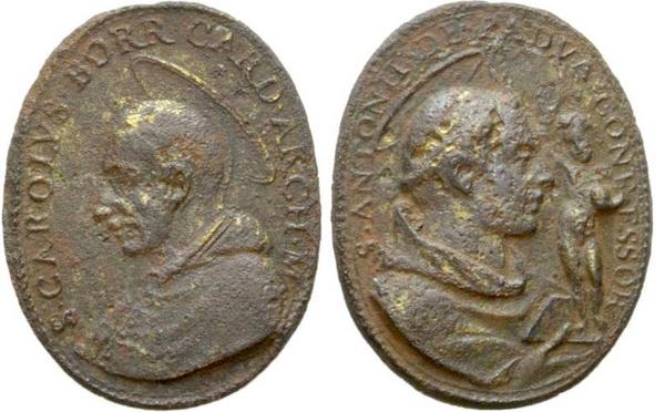 Las  MEDALLAS de San CARLOS BORROMEO. SIGLOS XVI- XVII- XVIII. Apuntes iconográficos. Col_pa17