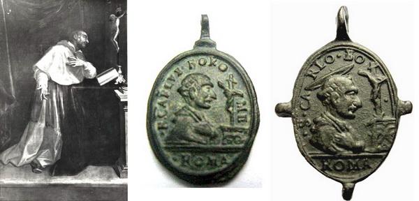 Las  MEDALLAS de San CARLOS BORROMEO. SIGLOS XVI- XVII- XVIII. Apuntes iconográficos. Con_la10
