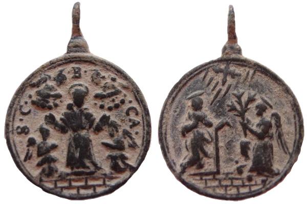 Las  MEDALLAS de San CARLOS BORROMEO. SIGLOS XVI- XVII- XVIII. Apuntes iconográficos. Currus10