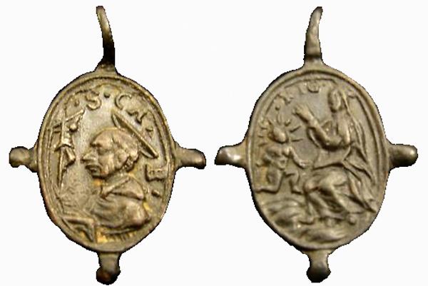 Las  MEDALLAS de San CARLOS BORROMEO. SIGLOS XVI- XVII- XVIII. Apuntes iconográficos. Guiara10