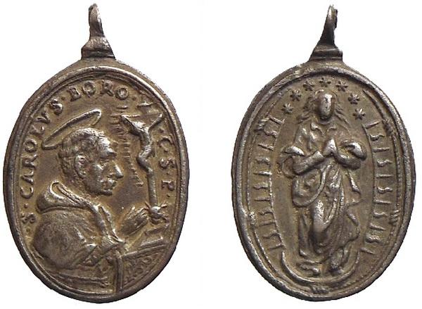 Las  MEDALLAS de San CARLOS BORROMEO. SIGLOS XVI- XVII- XVIII. Apuntes iconográficos. Inmacu10