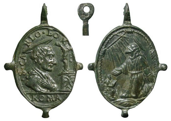 Las  MEDALLAS de San CARLOS BORROMEO. SIGLOS XVI- XVII- XVIII. Apuntes iconográficos. Insvla17