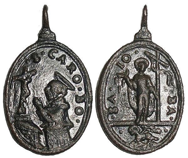 Las  MEDALLAS de San CARLOS BORROMEO. SIGLOS XVI- XVII- XVIII. Apuntes iconográficos. Italic12