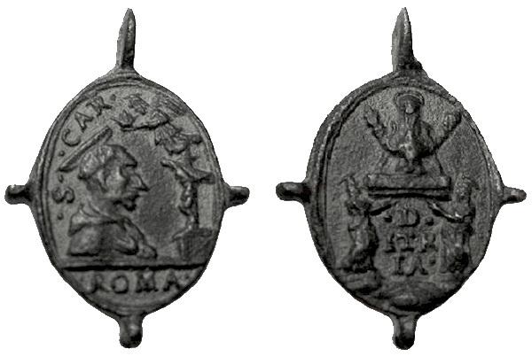 Las  MEDALLAS de San CARLOS BORROMEO. SIGLOS XVI- XVII- XVIII. Apuntes iconográficos. Itria_10