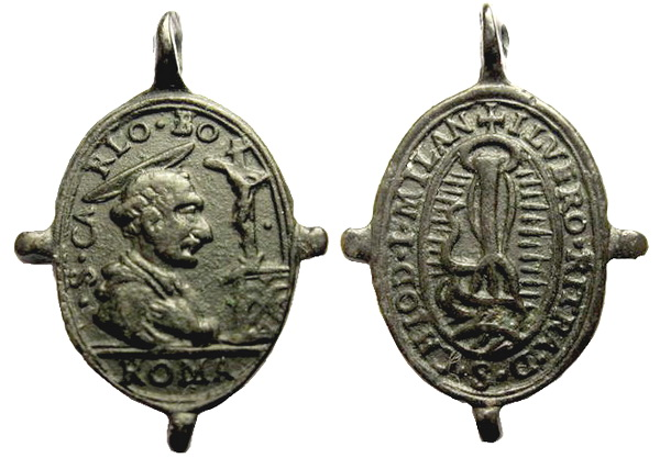 Las  MEDALLAS de San CARLOS BORROMEO. SIGLOS XVI- XVII- XVIII. Apuntes iconográficos. Julian10
