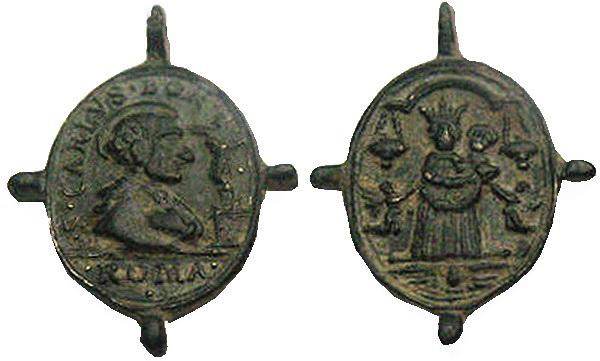 Las  MEDALLAS de San CARLOS BORROMEO. SIGLOS XVI- XVII- XVIII. Apuntes iconográficos. Loreto11