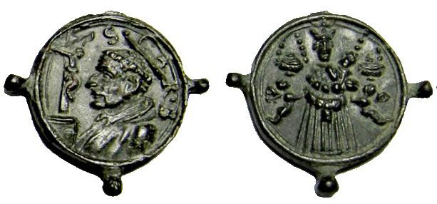 Las  MEDALLAS de San CARLOS BORROMEO. SIGLOS XVI- XVII- XVIII. Apuntes iconográficos. Loreto14