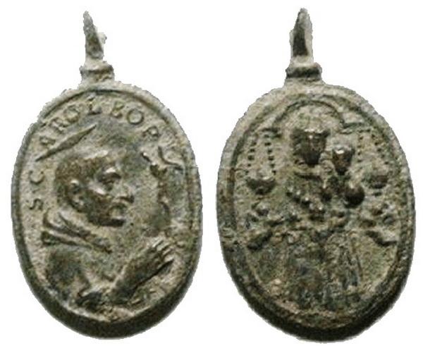 Las  MEDALLAS de San CARLOS BORROMEO. SIGLOS XVI- XVII- XVIII. Apuntes iconográficos. Loreto15