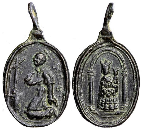 Las  MEDALLAS de San CARLOS BORROMEO. SIGLOS XVI- XVII- XVIII. Apuntes iconográficos. Loreto16
