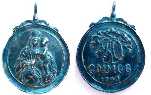 Virgen del Rosario - Inscripción, S. XVIII Mussio10