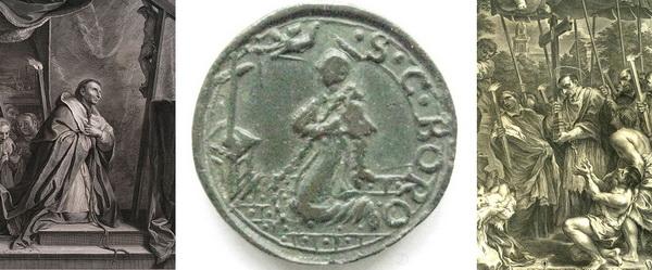 Las  MEDALLAS de San CARLOS BORROMEO. SIGLOS XVI- XVII- XVIII. Apuntes iconográficos. Penite10