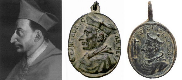 Las  MEDALLAS de San CARLOS BORROMEO. SIGLOS XVI- XVII- XVIII. Apuntes iconográficos. Retrat10