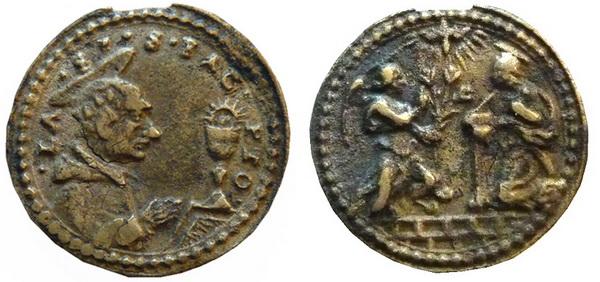 Las  MEDALLAS de San CARLOS BORROMEO. SIGLOS XVI- XVII- XVIII. Apuntes iconográficos. Rugde_10