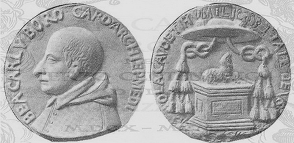 Las  MEDALLAS de San CARLOS BORROMEO. SIGLOS XVI- XVII- XVIII. Apuntes iconográficos. S_m_1511