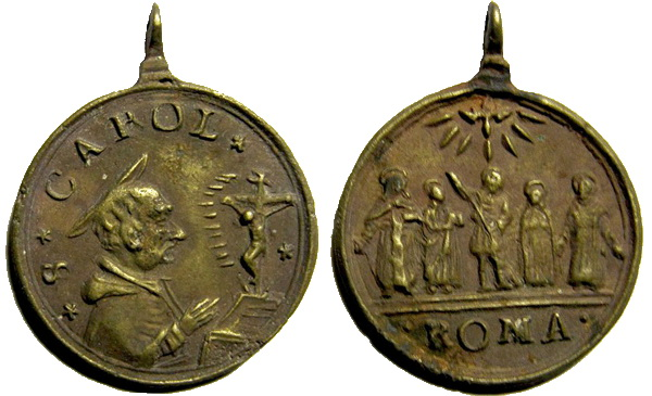 Las  MEDALLAS de San CARLOS BORROMEO. SIGLOS XVI- XVII- XVIII. Apuntes iconográficos. Staric10