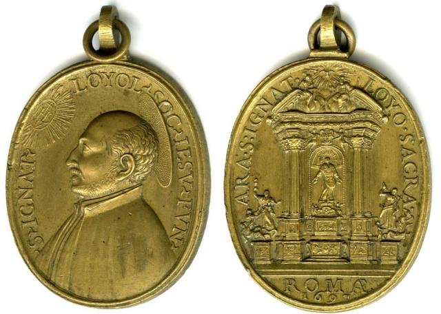 Recopilacion 180 medallas de San Ignacio de Loyola Z23_1610