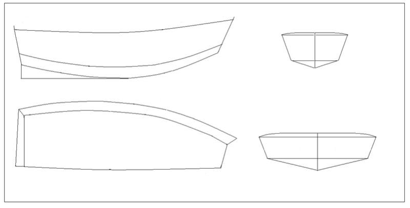 peniche sylvie plan systeme D des années 50 (origine. stab) Barque10