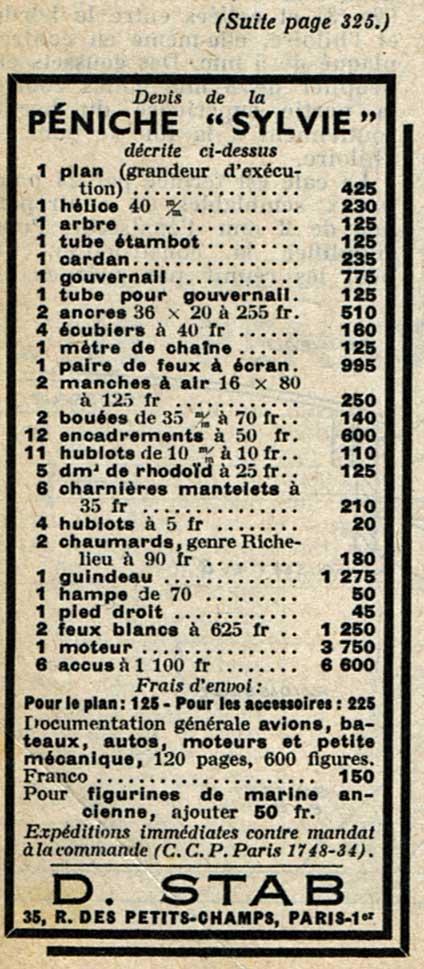 peniche sylvie plan systeme D des années 50 (origine. stab) Penich12