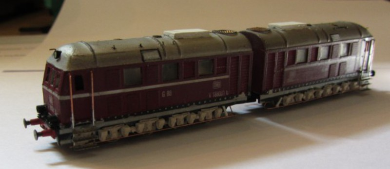 Frisur einer Kleinserien V188 Spur N V188-011