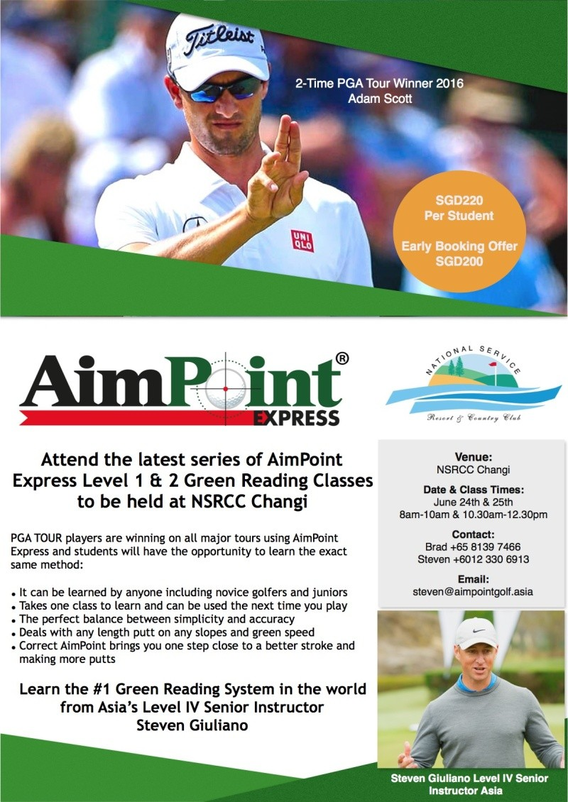 AIM POINT GREEN READING CLASSES  Level 1-2-3 - RETURNING to SINGAPORE June 24th & 25th 110
