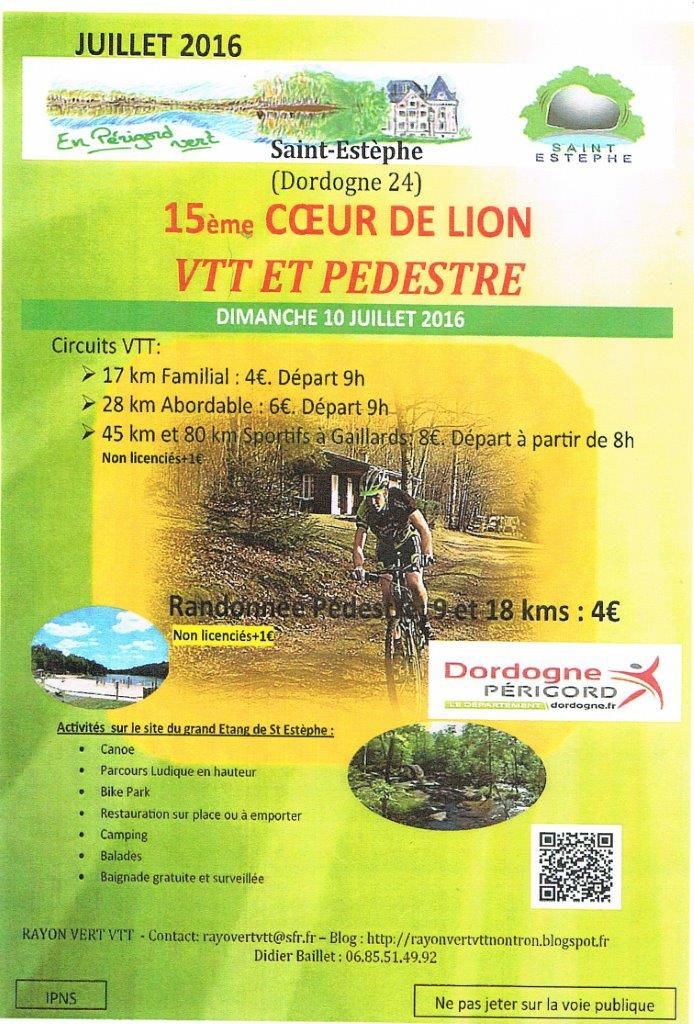 15ème Coeur de Lion Rando VTT dimanche 10 juillet à saint-Estèphe  Sans_t15