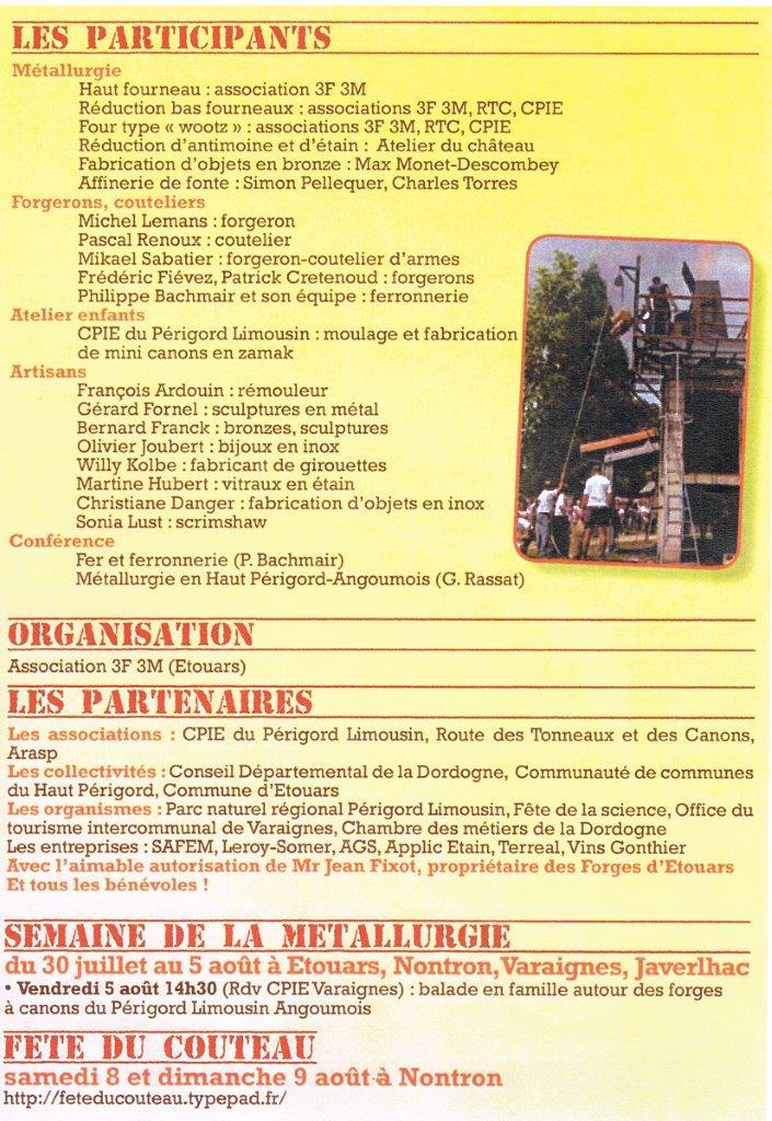 4ème Festival Forges et Métallurgie 30 et 31 juillet à Etouars Sans_t20