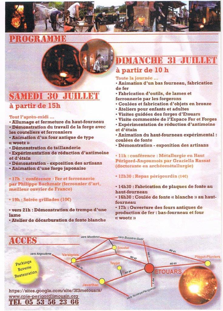 4ème Festival Forges et Métallurgie 30 et 31 juillet à Etouars Sans_t21