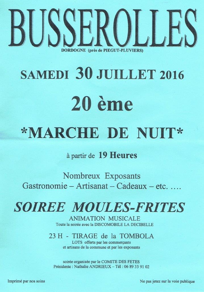 Marché de nuit à Busserolles samedi 30 juillet Sans_t26