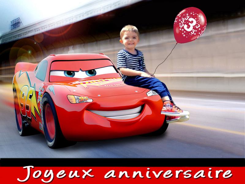 bonjour serait il possible davoir un montage avec cars pour les 3 ans de mon fils svp merci Cars2110
