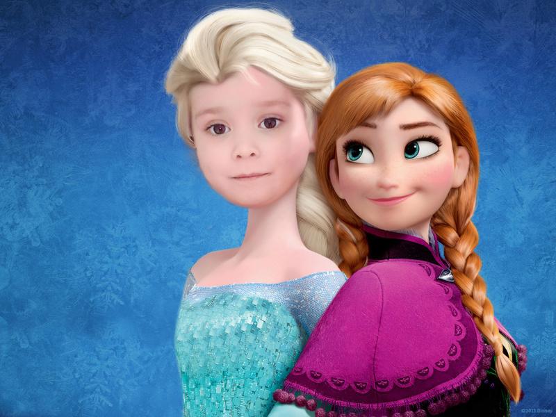 Montage Anniversaire Jeudi pour ma filleule  Elsa-a10