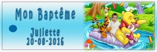 faire part baptême winnie  Etique11